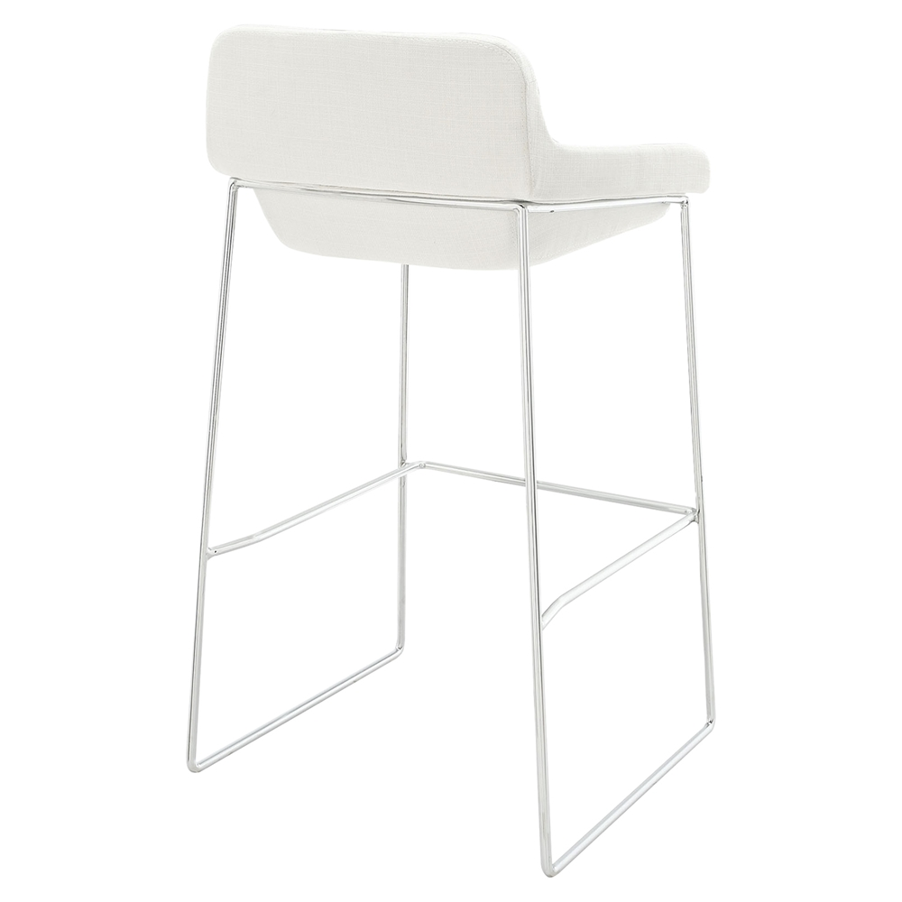 Garner Upholstery Bar Stool White Set of 4 DCG Stores : eei 1029 whi 2 from www.dcgstores.com size 1000 x 1000 jpeg 115kB