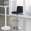 Ripple Leatherette Bar Stool - Black, Adjustable Height, Swivel - EEI-1032-BLK