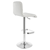 Ripple Leatherette Bar Stool - White (Set of 2) - EEI-2011-WHI-SET