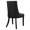 Noblesse Leatherette Dining Chair - Wood Legs, Black (Set of 4) - EEI-1678-BLK