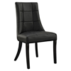 Noblesse Dining Leatherette Side Chair - Black - EEI-1039-BLK