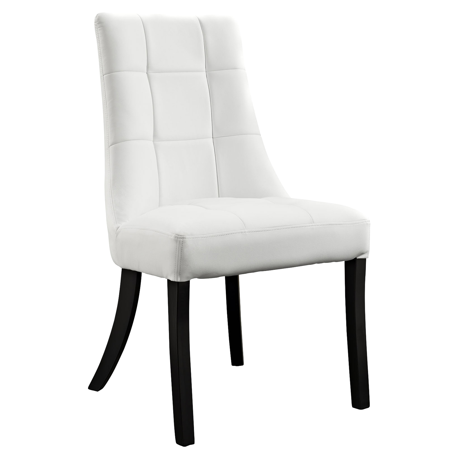 Noblesse Dining Leatherette Side Chair - White - EEI-1039-WHI
