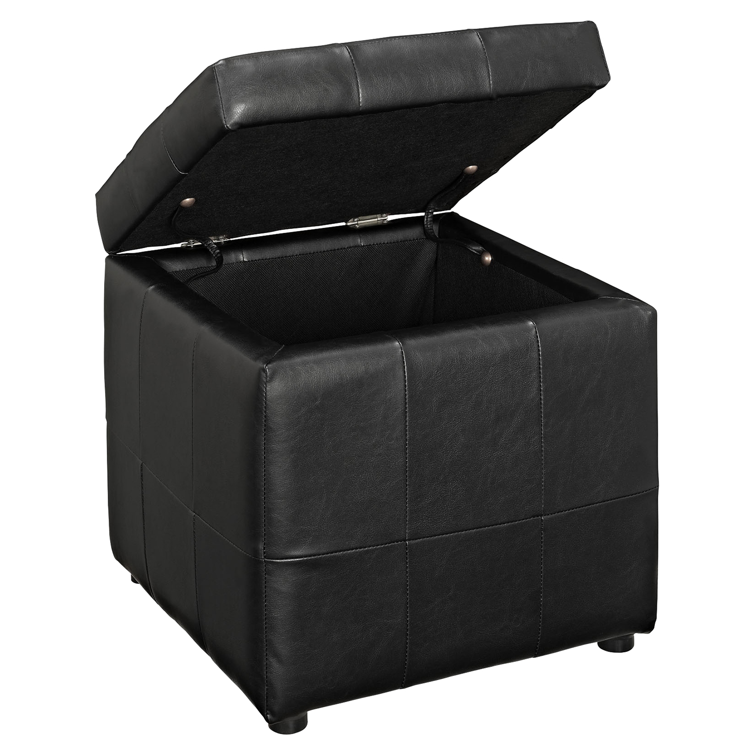 Volt Storage Tufted Ottoman - Black - EEI-1044-BLK