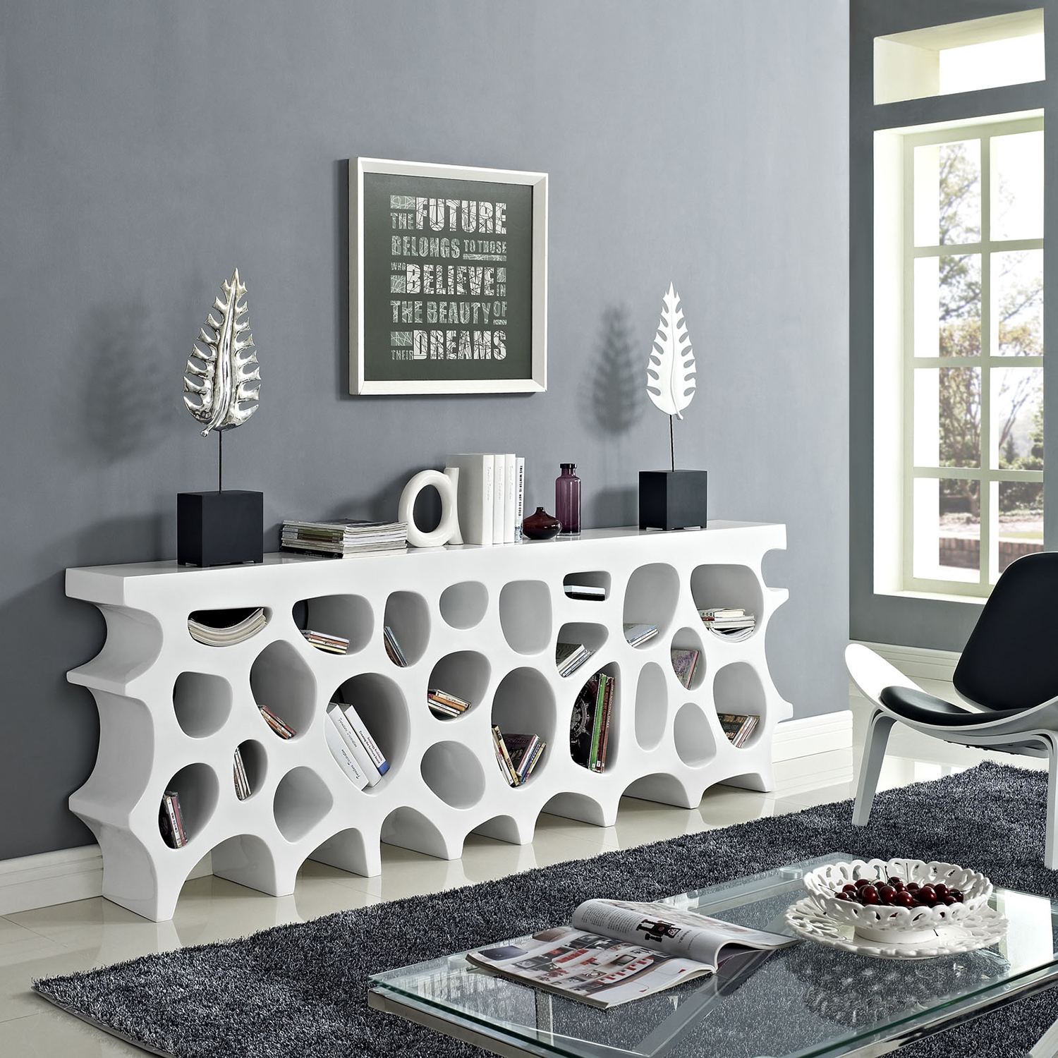 Wander Sofa Table - White - EEI-1051-WHI