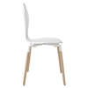 Path Dining Side Chair - White - EEI-1053-WHI