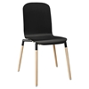 Stack Dining Wood Side Chair - Black - EEI-1054-BLK
