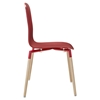Stack Dining Wood Side Chair - Red - EEI-1054-RED