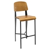 Cabin Counter Stool - Walnut, Black - EEI-1063-WAL-BLK