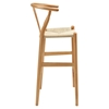 Amish Wood Bar Stool - Natural - EEI-1079-NAT