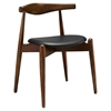 Stalwart Dining Side Chair - Dark Walnut, Black - EEI-1080-DWL-BLK