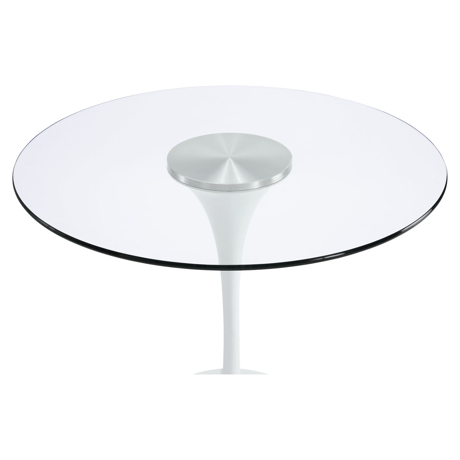 "Lippa 40"" Glass Top Dining Table - EEI-1082-CLR"