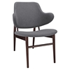 Cherish Dark Gray Wood Lounge Chair - EEI-1098-DGR