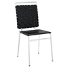 Fuse Leather Look Dining Side Chair - Black - EEI-1106-BLK
