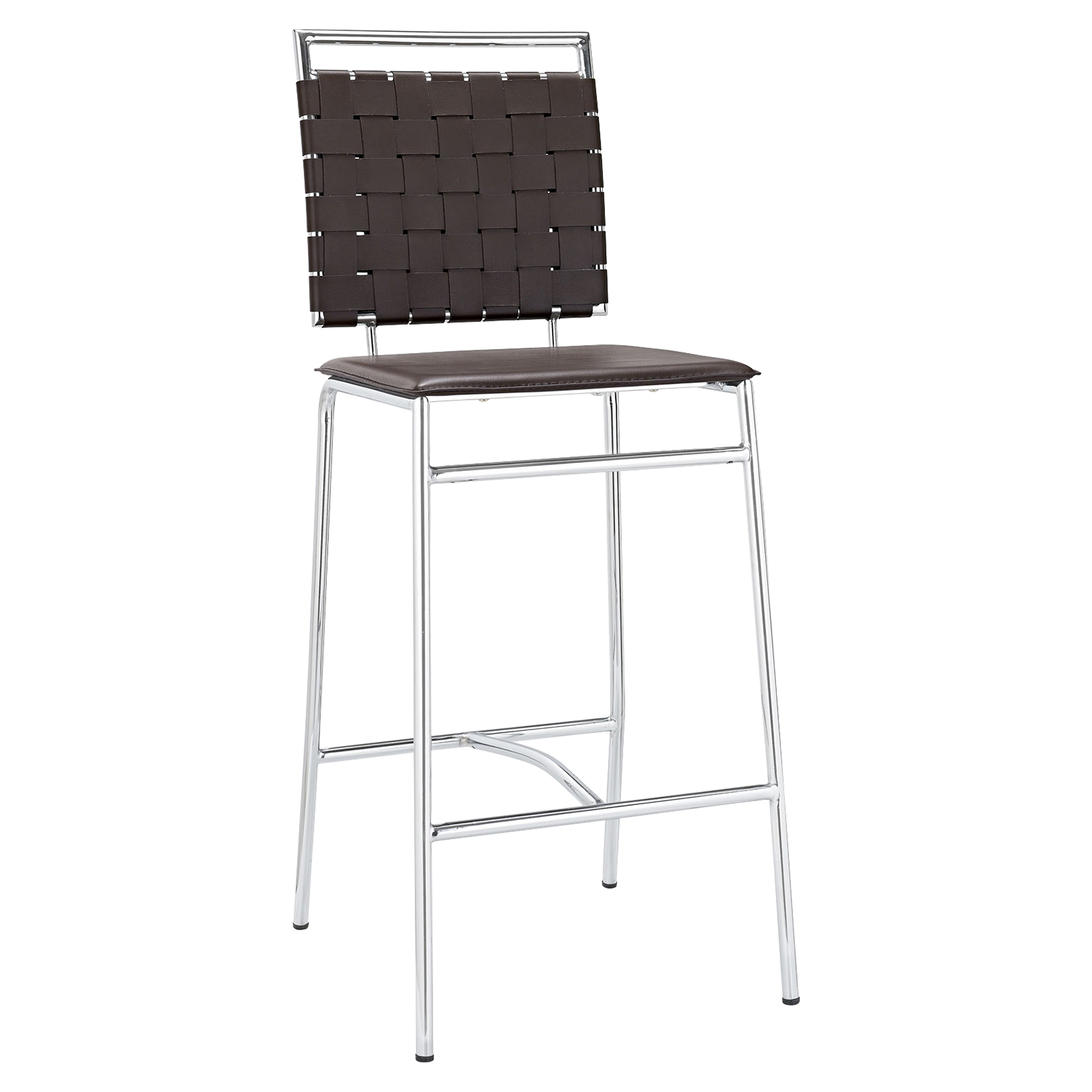 Fuse Leather Look Bar Stool - Brown - EEI-1107-BRN