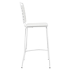 Fuse Leather Look Bar Stool - White - EEI-1107-WHI