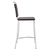 Fuse Leather Look Counter Stool - Brown - EEI-1108-BRN