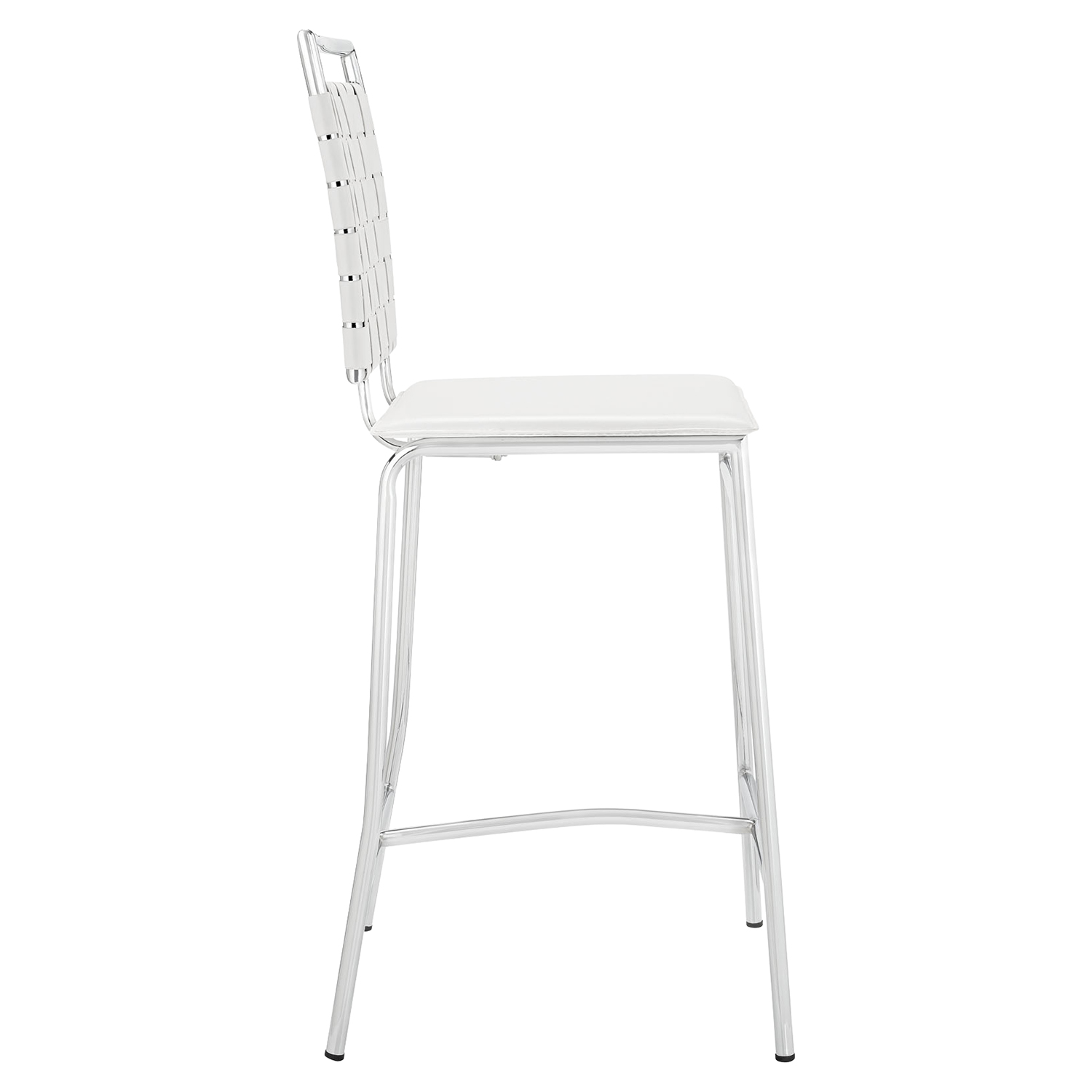 Fuse Leather Look Counter Stool - White - EEI-1108-WHI