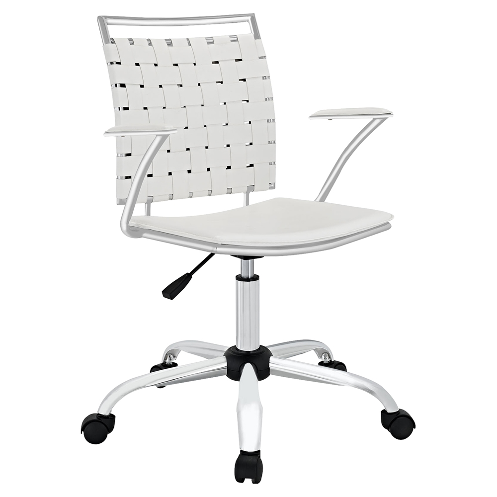 Fuse Leather Look Office Chair Adjustable Height Swivel
