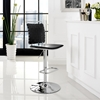 Fuse Adjustable Armless Bar Stool - Black, Swivel - EEI-1111-BLK