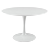 "Lippa 47"" Wood Top Dining Table - White - EEI-1118-WHI"