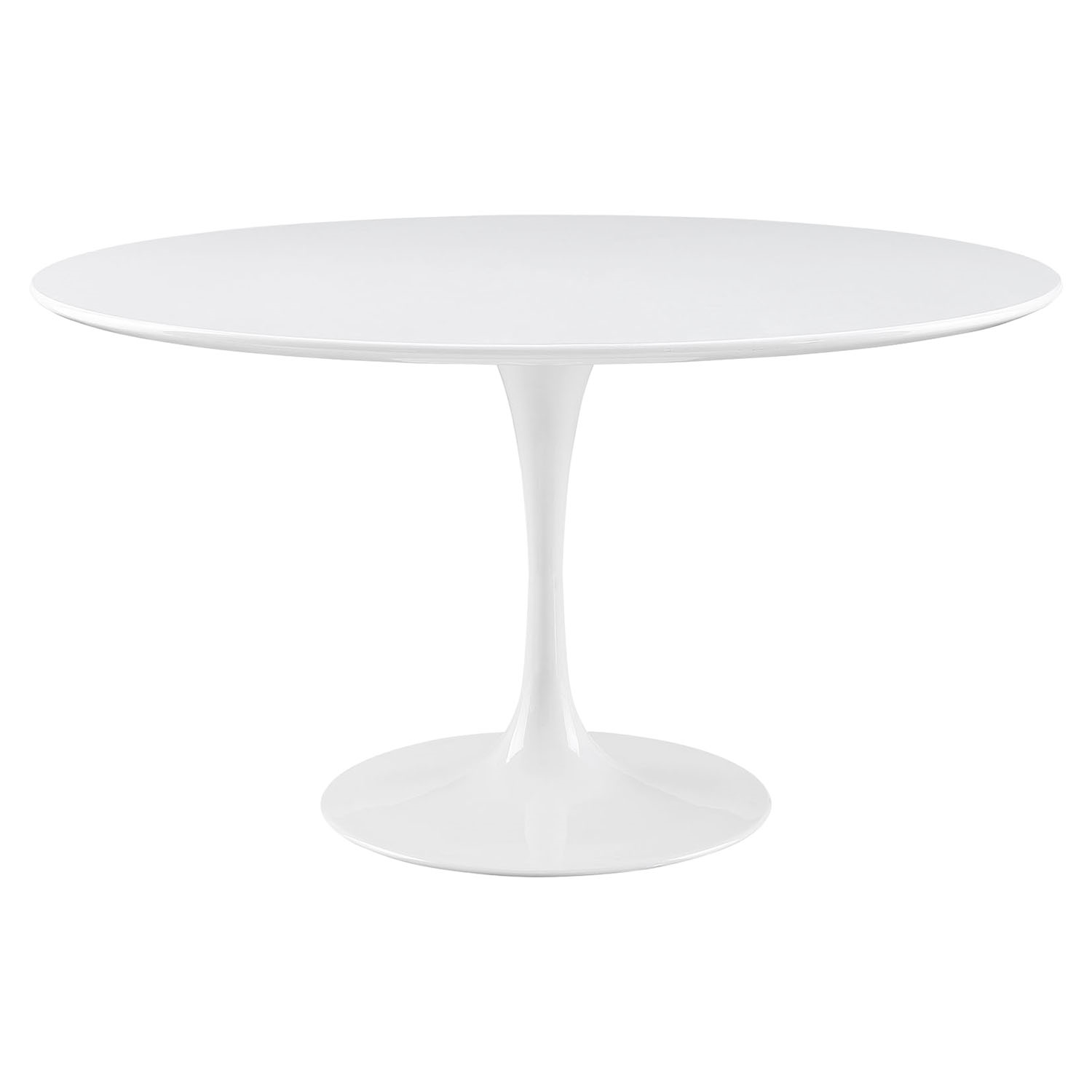 "Lippa 54"" Wood Top Dining Table - White - EEI-1119-WHI"