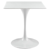 "Lippa 28"" Square Wood Top Dining Table - White - EEI-1123-WHI"