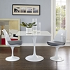 "Lippa 36"" Square Wood Top Dining Table - White - EEI-1124-WHI"