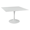 "Lippa 47"" Square Wood Top Dining Table - White - EEI-1125-WHI"