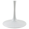 "Lippa 54"" Artificial Marble Dining Table - White - EEI-1132-WHI"