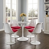 "Lippa 28"" Artificial Marble Dining Table - White - EEI-1128-WHI"