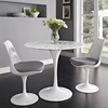 "Lippa 36"" Artificial Marble Dining Table - White - EEI-1129-WHI"