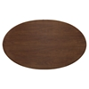 "Lippa 60"" Oval Shaped Dining Table - Walnut - EEI-1138-WAL"