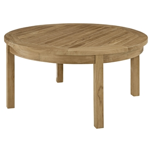 Marina Outdoor Patio Coffee Table - Natural, Round