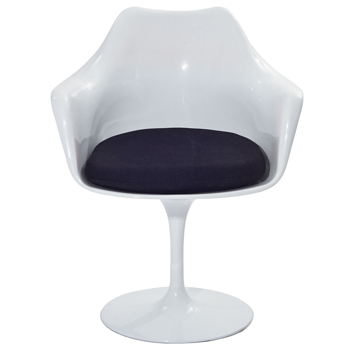 Lippa Saarinen Inspired White Armchair - EEI-116