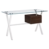 Stasis Glass Top Office Desk - Walnut - EEI-1181-WAL