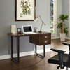 Turn 2 Drawers Office Desk - Walnut - EEI-1184-WAL