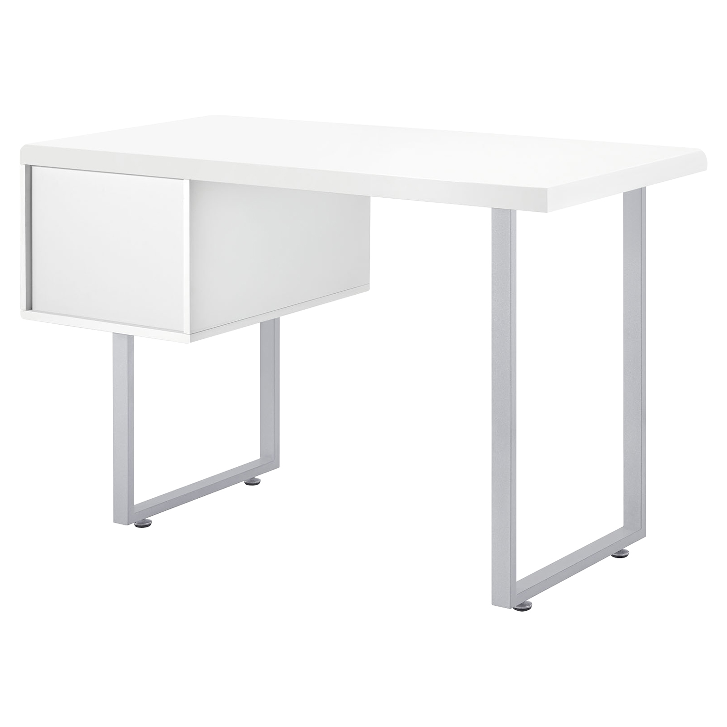 Turn 2 Drawers Office Desk - White - EEI-1184-WHI