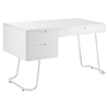 Swing Office Desk - White - EEI-1185-WHI
