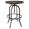Sylvan Wood Top Bar Table - Round, Black - EEI-1200-BLK