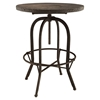 Procure Backrest Bar Stool - Metal Base, Brown (Set of 4) - EEI-1609-BRN-SET