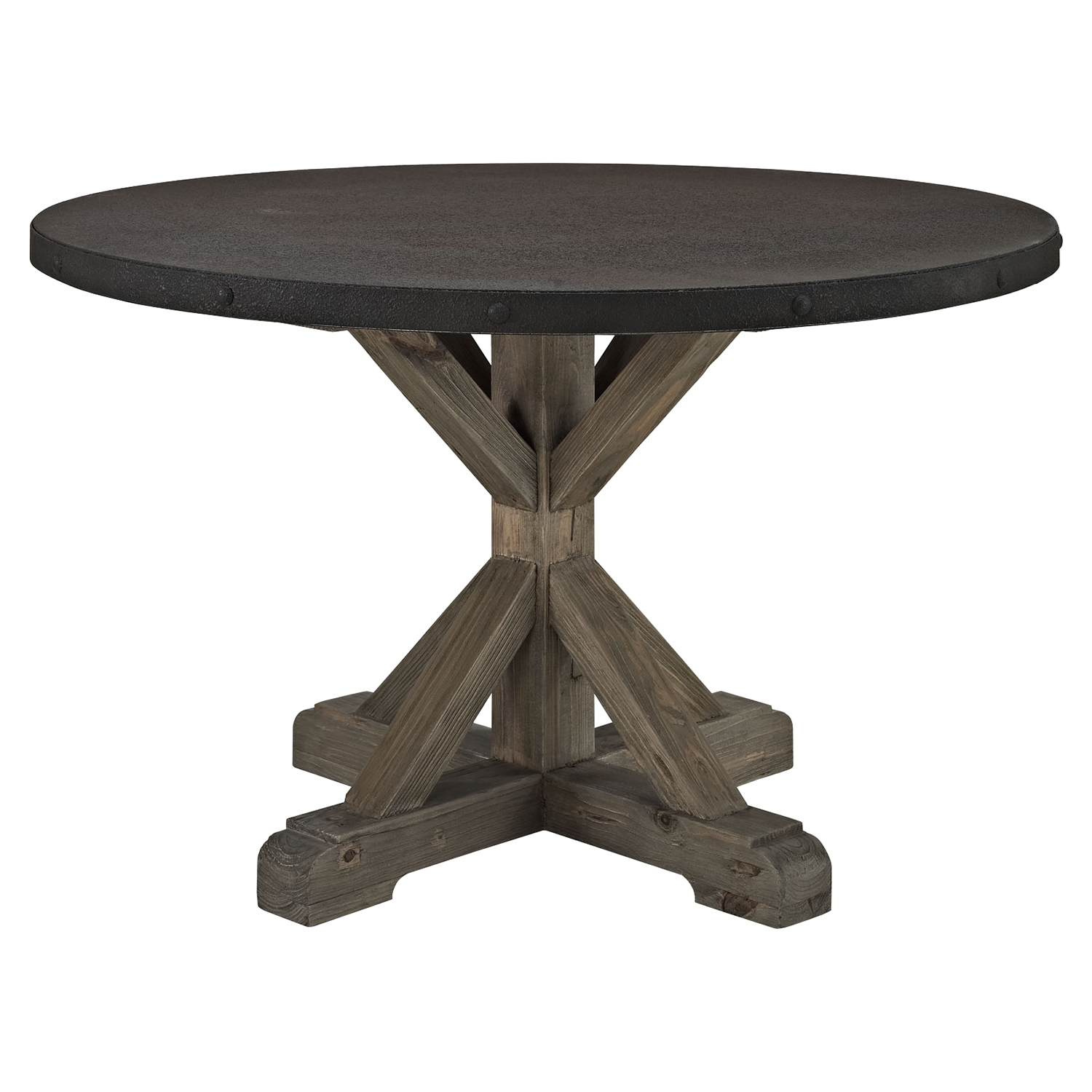 Stitch Wood Top Dining Table - Brown - EEI-1207-BRN-SET