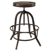 Collect Backless Bar Stool - Metal Base, Brown (Set of 4) - EEI-1607-BRN-SET