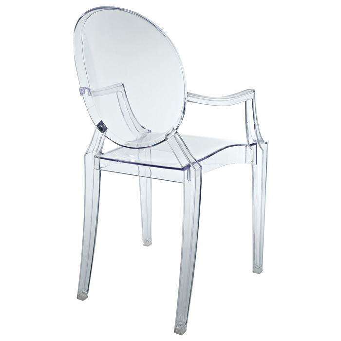 Casper Stackable Kids Armchair - Acrylic - EEI-121K-CLR