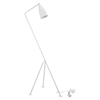 Askance Floor Lamp - White - EEI-1227-WHI