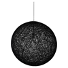 "Spool 24"" Chandelier - Black - EEI-1233-BLK"