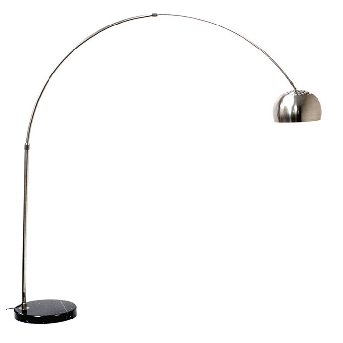 Sunflower Classic Arch Floor Lamp with Round Marble Base - EEI-124