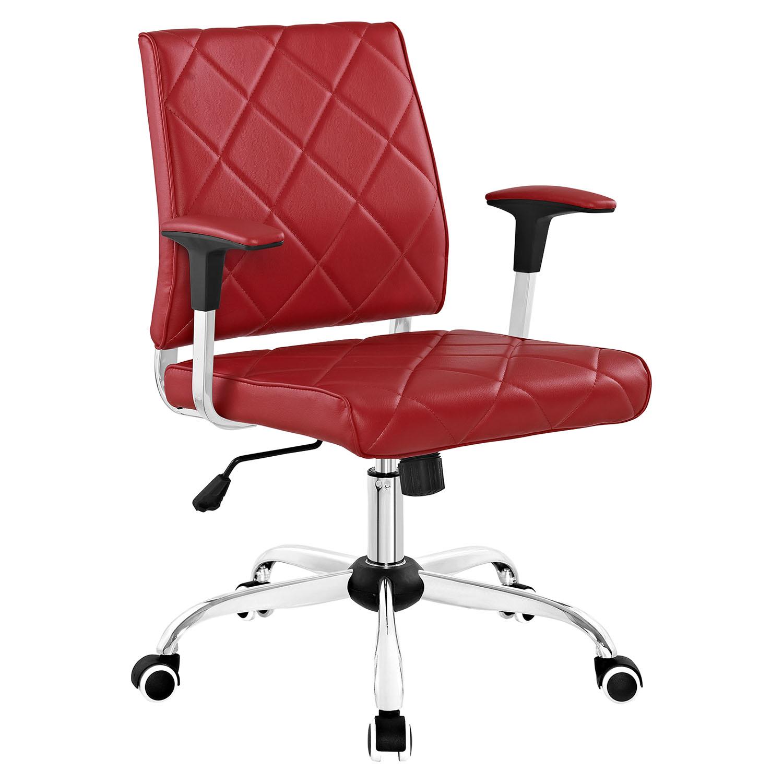 Lattice Leatherette Office Chair Adjustable Height