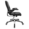 Premier High Back Office Chair - Adjustable Height, Swivel, Armrest, Black - EEI-1251-BLK
