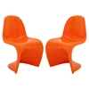 Slither Dining Side Chair - Orange (Set of 2) - EEI-1254-ORA