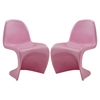 Slither Dining Side Chair - Pink (Set of 2) - EEI-1254-PNK